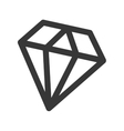 diamond fantasy isolated icon vector image