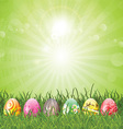 easter eggs in grass 2402 vector image