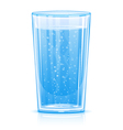 Glass of fizzy water vector image