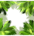 painted background of green palm leaves vector image