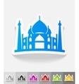 realistic design element arabic palace vector image