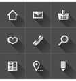 Set of website menu icons vector image