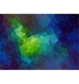 space abstract polygonal background vector image