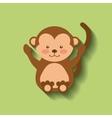 tender cute monkey card icon vector image