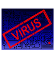 Virus Alert Blue Background vector image