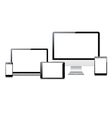 Electronic devices set vector image vector image