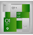 business squares template green with text vector image vector image