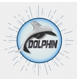 Dolphin badges logos and labels for any use vector image