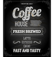 Coffee Poster on Chalk Board Design vector image