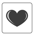 Gray Heart icon vector image