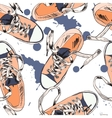 Gumshoes seamless pattern vector image