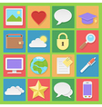 Light icons set for web in flat design vector image