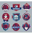 set of university and college school badges vector image