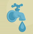 water drop concept vector image