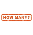 How Many Question Rubber Stamp vector image