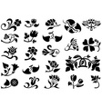 Flower Pictograms vector image