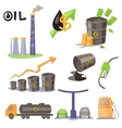 Oil Production Infographic Elements vector image
