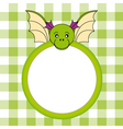 frame dragon vector image