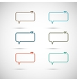 Set of six colorful speech bubbles vector image