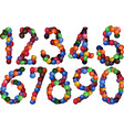 sweet numbers vector image