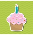 cupcake icon design vector image