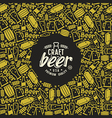 Craft beer brewery frame and label vector image