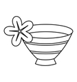 Bowl with water for spa icon outline style vector image