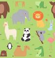 cartoon animals wildlife wallpaper zoo wild vector image