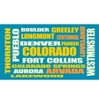 colorado state cities list vector image
