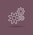 isolated linear icon of settings gears vector image