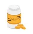 medicine bottle pill vitamin icon vector image