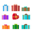 presents set holiday collection vector image
