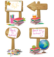 School wooden board sign vector image