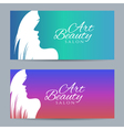 Set of banners with conceptual silhouette of a vector image