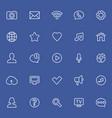social network thin icons vector image