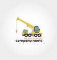 truck crane - company name vector image