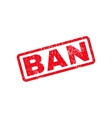Ban Text Rubber Stamp vector image