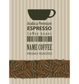 label for coffee beans vector image vector image