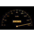 black and gold speedometer vector image