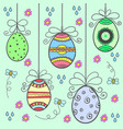doodle of easter egg style design vector image
