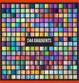 mega set of 244 gradients vector image