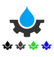 water service flat icon vector image