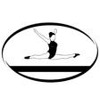 Gymnastics on the balance beam vector image