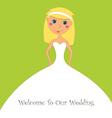 wedding inviation design vector image