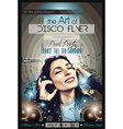 Attractive Club Disco Flyer with a Girl Dj vector image vector image