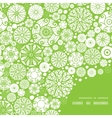 abstract green and white circles frame corner vector image