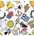 Greece Landmarks and cultural features pattern vector image