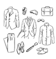 handsome business man suit vector image