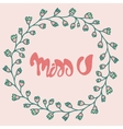 Romantic Miss You card vector image