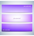 Set of horizontal multicolored backgrounds for vector image